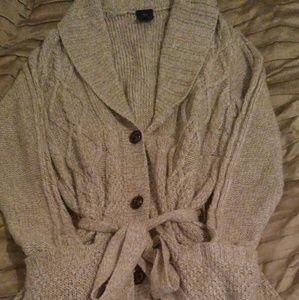 Faded Glory Long Button Down Cardigan Sweater